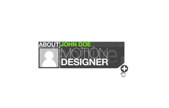 AE模板 创意图形动画网站视频组合介绍展示 Website Portfolio