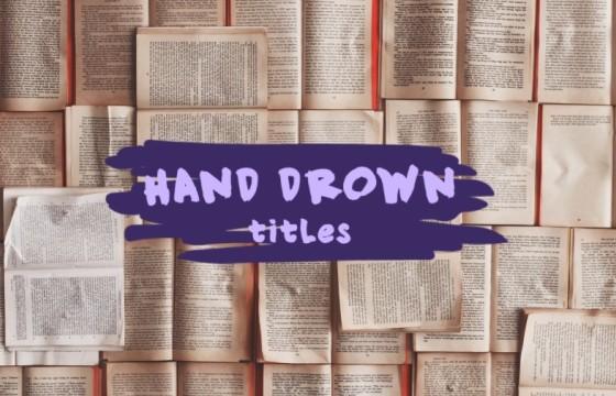 AE模板 MG形状图形文字标题字幕条动画 Drown Titles