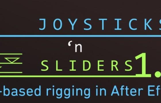AE脚本 卡通角色动作骨骼绑定控制 Aescripts Joysticks'n Sliders v1.6.6
