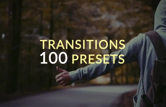 AE预设模板 100个形状动画转场过渡效果 Presets Transitions