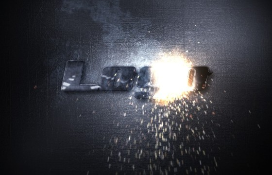 AE模板 电焊火花烟雾LOGO特效动画片头 Sparks Logo Reveal