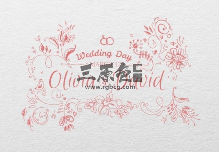 AE模板 浪漫婚礼人名字幕条手绘标题 Romantic Collection Hand-drawn Ae 模板-第1张