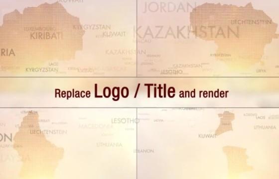 AE模板 201个世界国家地图标志标题 201 World Countries Logo Titles
