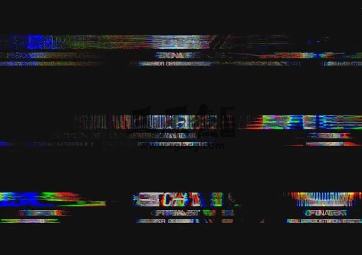 Pr基本图形模板 30个画面失真混乱效果文字标题特效 Mogrt预设 Pr 模板-第1张