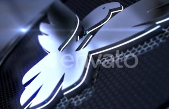 AE模板 三维金属质感LOGO文字标志片头 Metallic 3D Logo Reveal