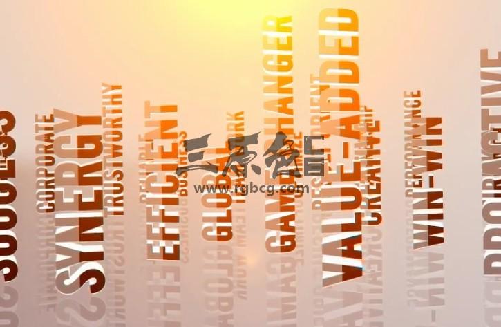 AE模板-关键词标题LOGO标志动画 3D Titles Corporate Logo Ae 模板-第1张
