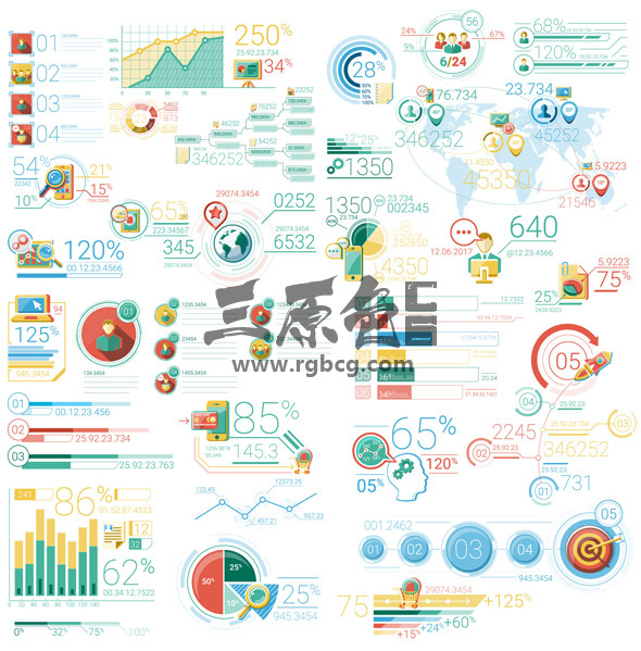 AE模板-30个数据业务信息图表动画元素 Infographic Elements Ae 模板-第1张