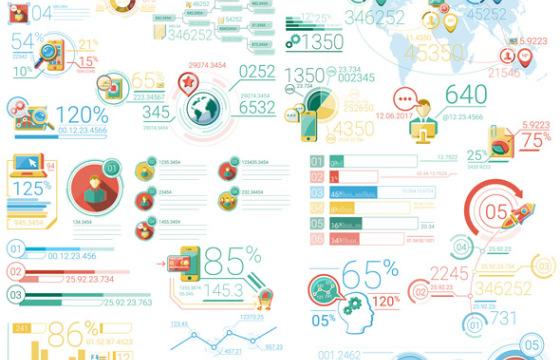 AE模板-30个数据业务信息图表动画元素 Infographic Elements