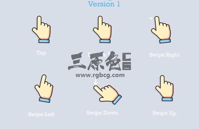AE模板 60个卡通图形智能手势动画 Smart Gestures Ae 模板-第1张