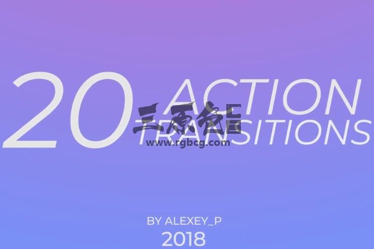Pr模板 动作片视频转场过渡切换效果 Action Transitions Pr 模板-第1张