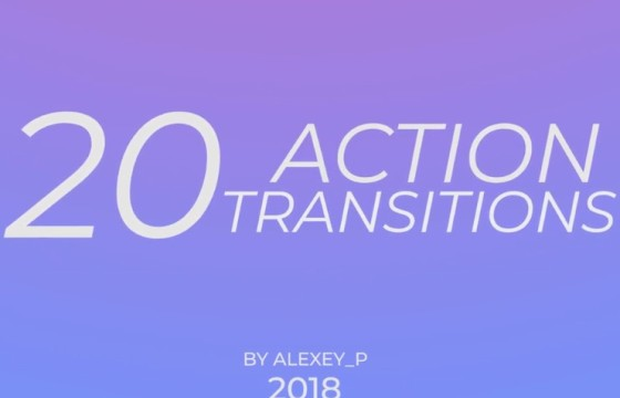 Pr模板 动作片视频转场过渡切换效果 Action Transitions