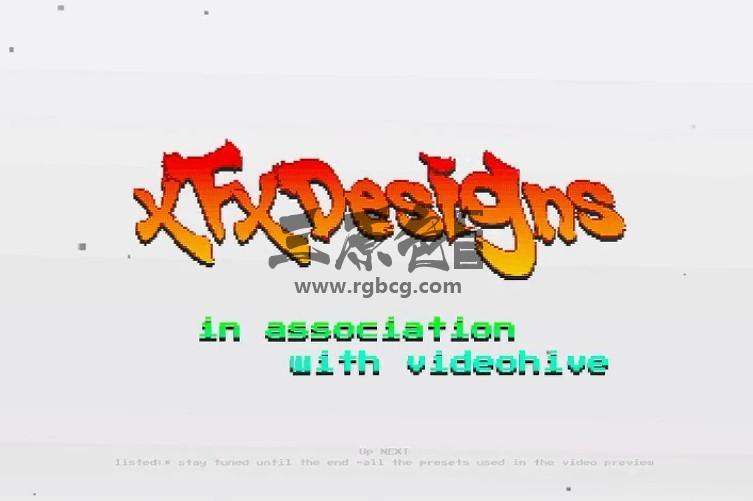 AE模板 70/80年代像素游戏文字效果 Arcade Text Maker 8bit Glitch Titles Ae 模板-第1张