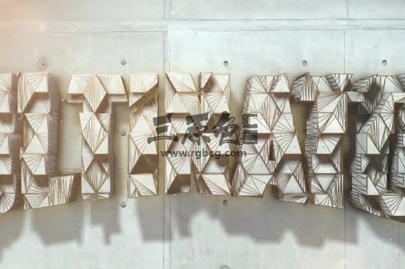 AE模板 几何建筑混凝土LOGO标志动画 Architect Gold and concrete logo Ae 模板-第1张