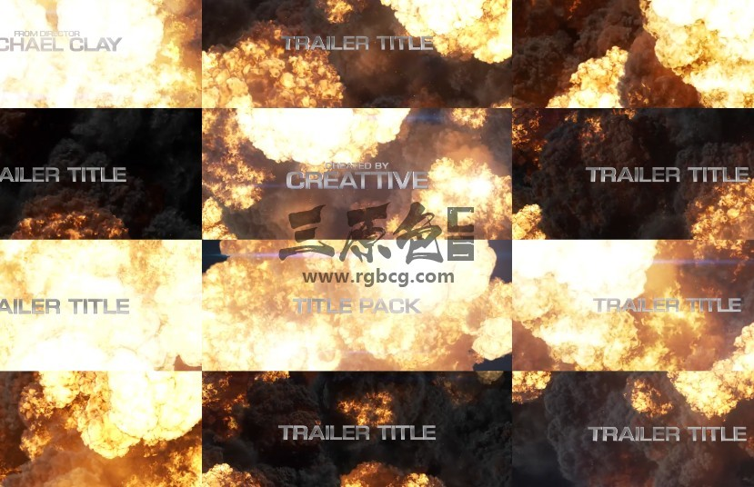 AE模板 大片文字标题火焰爆炸元素效果 Blockbuster Title Pack  Explosions Ae 模板-第1张