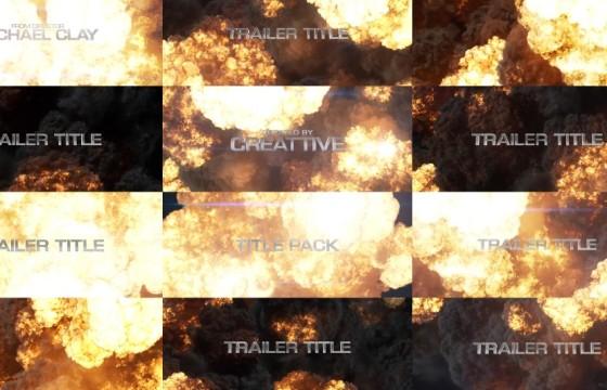 AE模板 大片文字标题火焰爆炸元素效果 Blockbuster Title Pack  Explosions