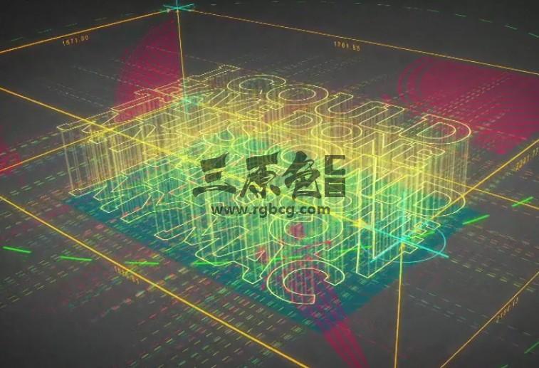 AE模板 建筑工程蓝图草稿动画片头 Blueprint Logo Revealer Ae 模板-第1张