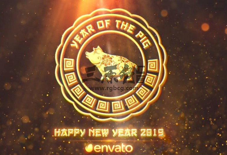 AE模板 2019猪年中国春节新年新春片头 Chinese New Year 2019 Ae 模板-第1张