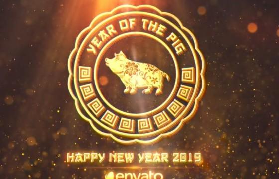 AE模板 2019猪年中国春节新年新春片头 Chinese New Year 2019