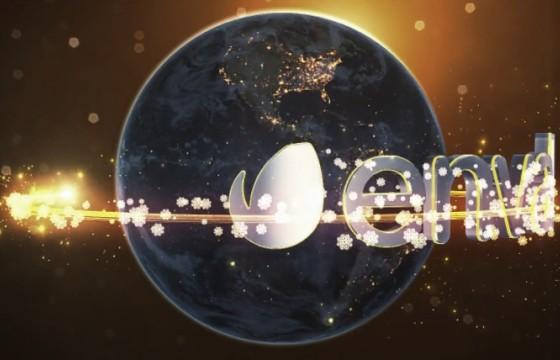 AE模板 粒子光线特效环绕地球包装片头 Christmas Earth