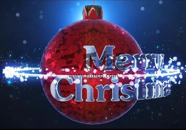 AE模板 圣诞节雪花粒子动画文字标题 Christmas Logo Ae 模板-第1张