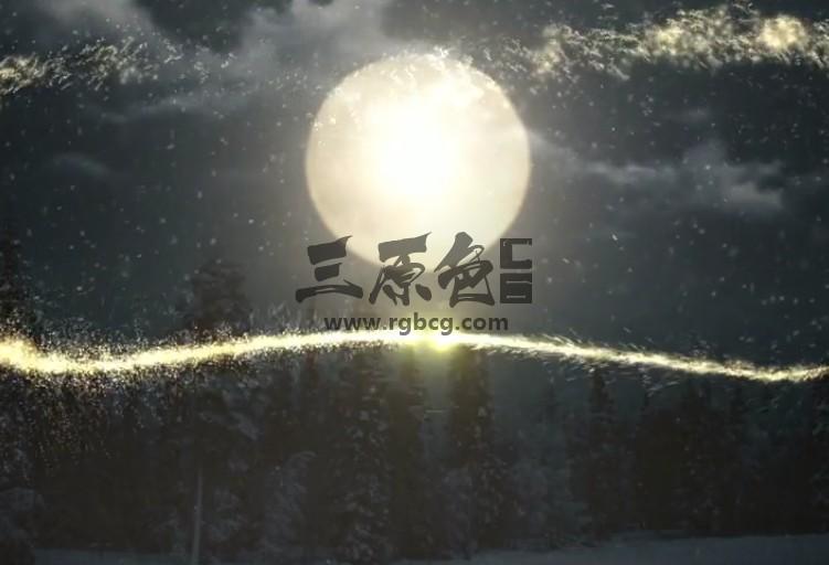 AE模板 圣诞夜粒子文字标题动画片头 Christmas night 2 in 1 Ae 模板-第1张