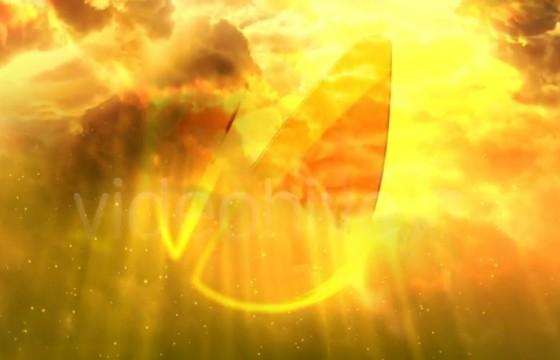 AE模板:电影片头天空白云LOGO揭示 Cinematic Clouds Logo Reveal