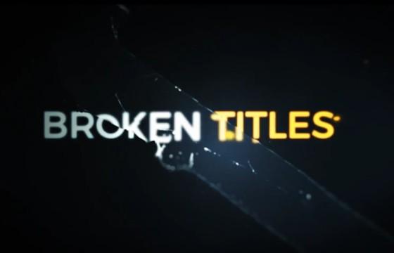 AE模板 破碎文字标题特效电影游戏预告片头 Cinematic Cracked Titles