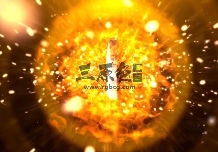 AE模板 火焰粒子飞舞LOGO标志显示片头 Cinematic Impulse Logo Ae 模板-第1张