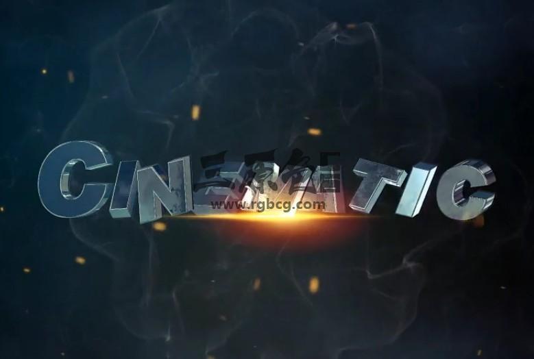 AE模板-电影游戏预告片 三维文本动画片头 Cinematic Movie Trailer Ae 模板-第1张