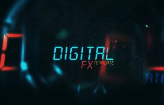AE模板-电影科幻片HUD样式文字标题动画 Cinematic Sci-Fi Titles