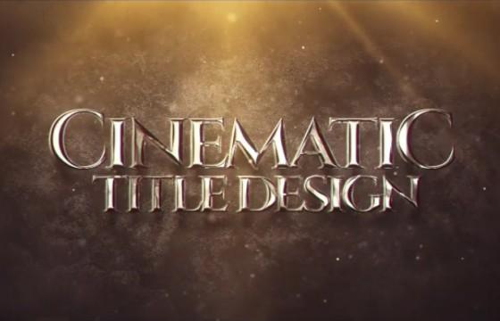 AE模板-电影游戏预告片文字标题包装片头 Cinematic Title