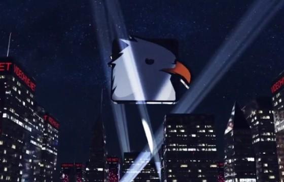 AE模板 城市高楼夜景探照灯LOGO片头动画 City Reveal