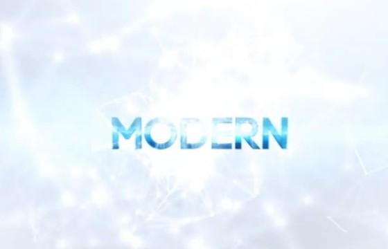 AE模板 能量光线特效文字标题显示 Clean Logo Titles