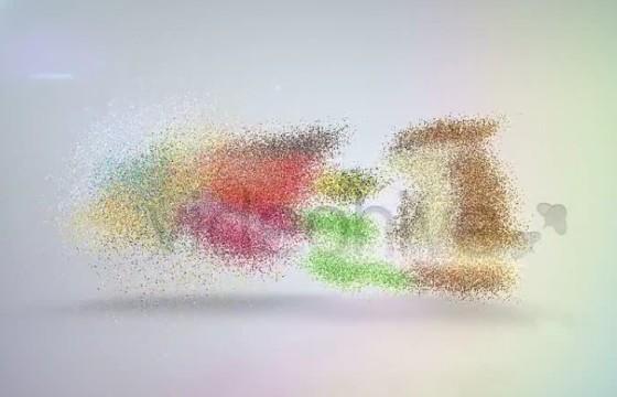 AE模板 优雅的粒子消散汇聚LOGO动画 Elegant Corporate Identity