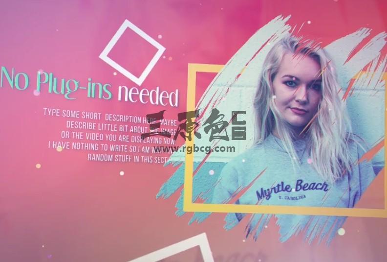 AE模板 时尚多彩的图文幻灯片展示 VideoHive Colorful Life Ae 模板-第1张