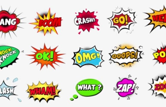 AE模板-卡通综艺对话漫画泡泡文本标题 Comic Bubbles