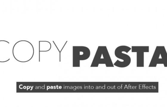 AE脚本 项目模板图像文件复制粘贴功能 Copy Pasta v1.0.1
