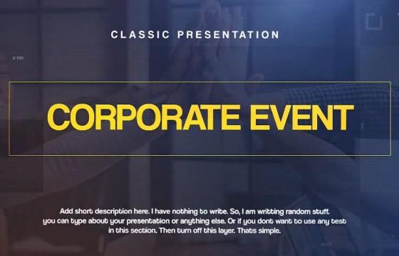 AE模板 公司活动图文幻灯片展示 Corporate Events