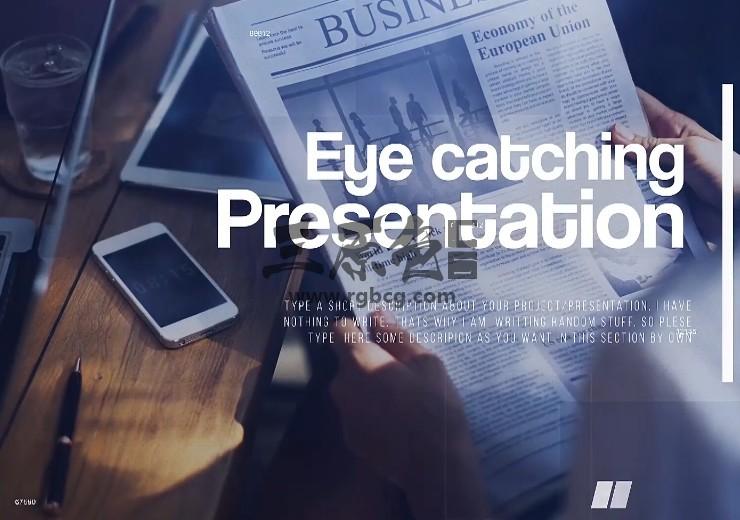 Pr 模板预设 公司企业形象幻灯片展示 Corporate Minimal Pr 模板-第1张