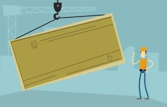 AE模板-MG卡通吊机箱子LOGO动画展示 Crane Logo Reveal