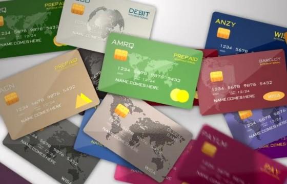 AE模板:金融信用卡银行卡LOGO显示 Credit Debit Prepaid Card