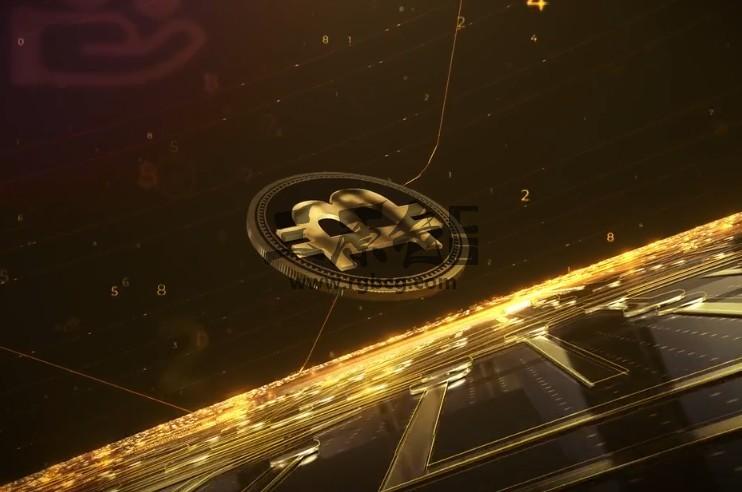AE模板 金融安全LOGO片头动画 Crypto Money Logo Ae 模板-第1张