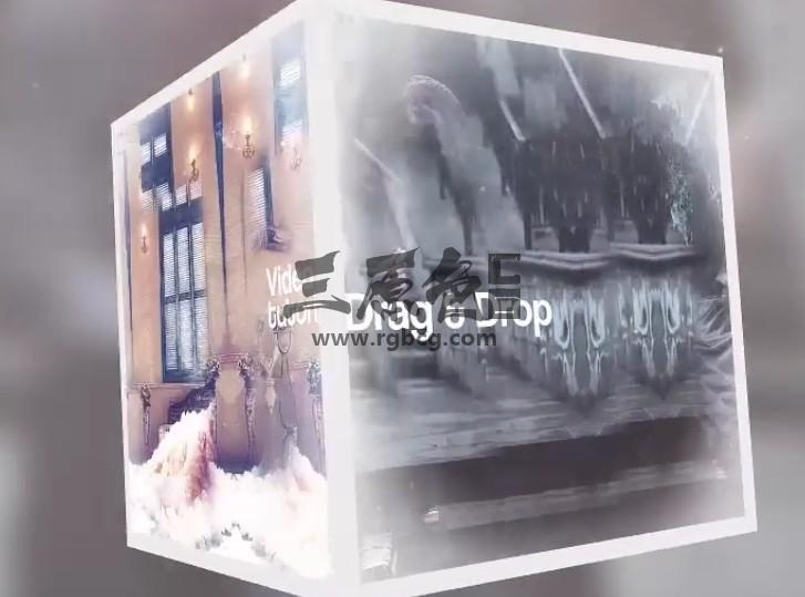 AE模板 三维正方形旋转转动图文视频展示 Cube Fantasy Ae 模板-第1张