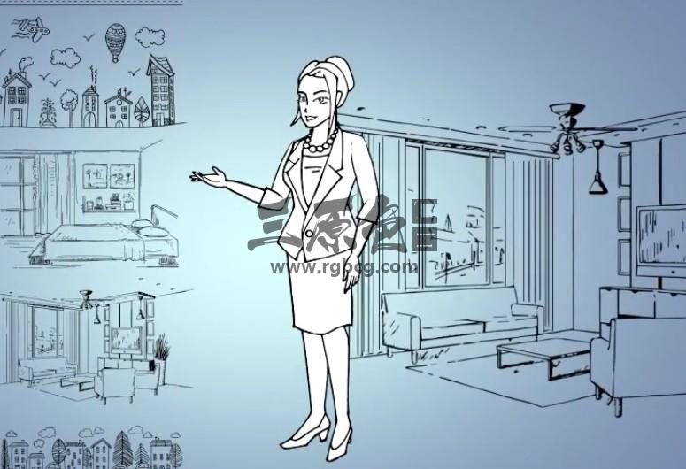 AE模板 手绘线条涂鸦卡通动画场景人物 Doodle Animation Ae 模板-第1张