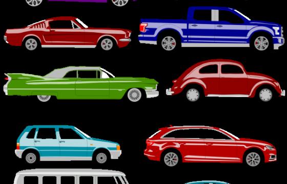 AE模板 多种类小汽车MG卡通运动图形动画 Drive Elements