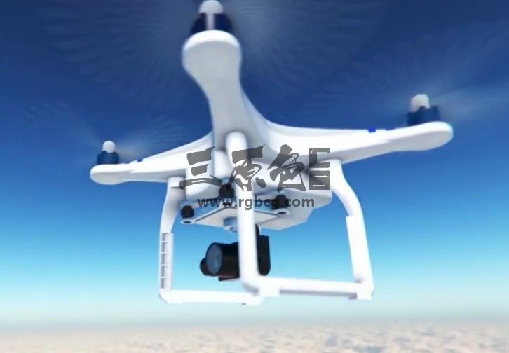 AE模板 四轴无人机飞行器LOGO动画片头 Drone Reveal Ae 模板-第1张