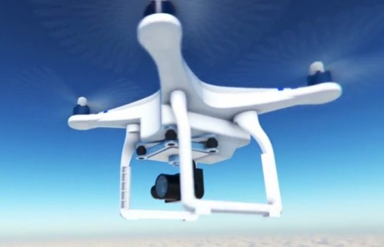 AE模板 四轴无人机飞行器LOGO动画片头 Drone Reveal