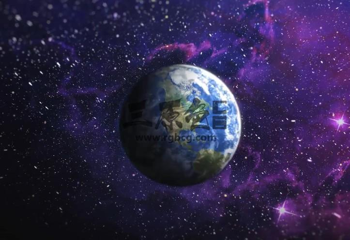 AE模板 地球LOGO标志揭示 Earth Logo Reveal Ae 模板-第1张