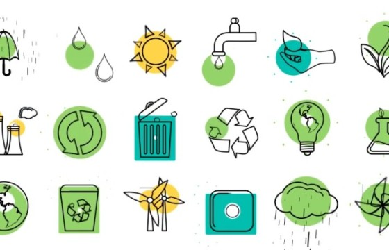 AE模板 生态概念Icons图标线条动画 Ecology Concept Icons