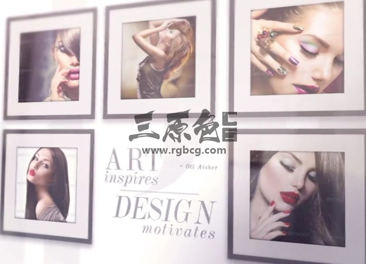 AE模板 墙壁上的典雅照片画廊 Elegant Photo Gallery On The Wall Ae 模板-第1张